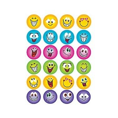 Herma Çocuk Etiketleri Gülen Yüzler Renkli